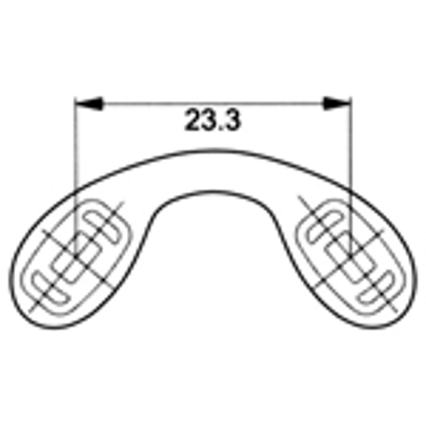 Picture of Silikon-Schlaufenstege, Größe 23,3 mm, click-in, 3 Stück