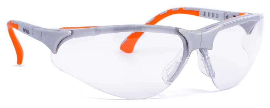 """Picture of Universal-Schutzbrille Modell """"Terminator Plus"""", silber/orange, verglast mit"""