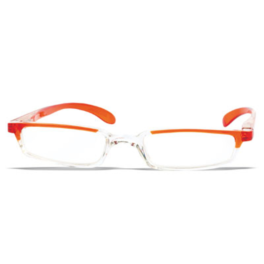 Picture of VITAMINIC-Kunststoff-Lesebrille, mit Etui, orange/klar, +1,00 dptr.