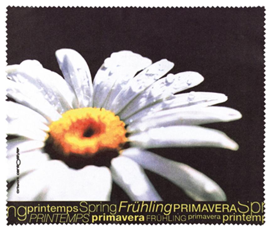 """Picture of Mikrofasertuch 4-Jahreszeiten, Motiv """"Frühling Margerite"""", 15 x 18 cm, 100 Stück"""