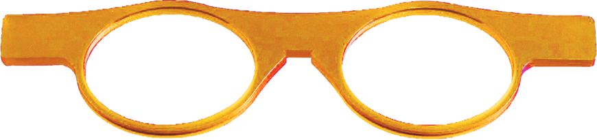 Picture of Brillenvorhalter LORGNETTE orange, 1 Stück