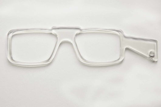 Picture of Brillenvorhalter LORGNETTE transparent, 1 Stück