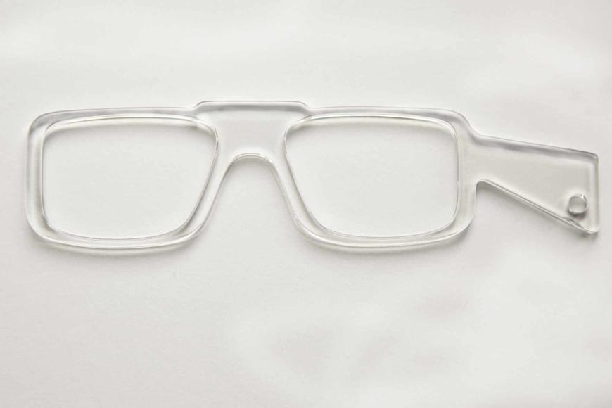 Picture of Brillenvorhalter LORGNETTE transparent, 1 Stück