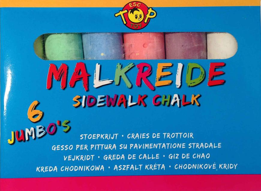 Picture of Straßenmalkreide, 6 Farben sortiert, 1 Packung