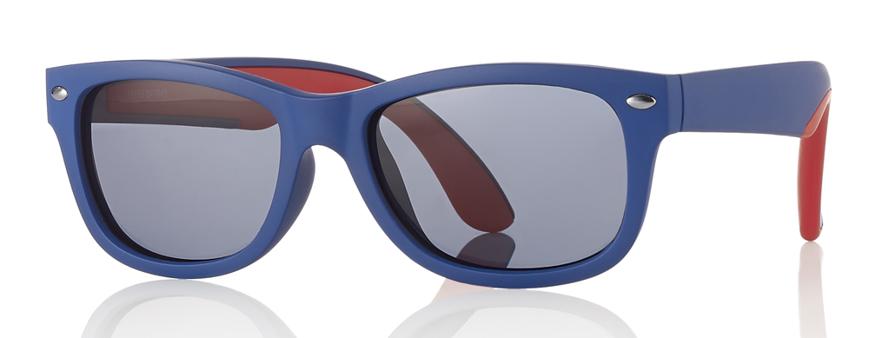 Picture of Kinder-Sonnenbrille, Gr. 48-16, blau/rot, Polycarbonat-Gläser grau