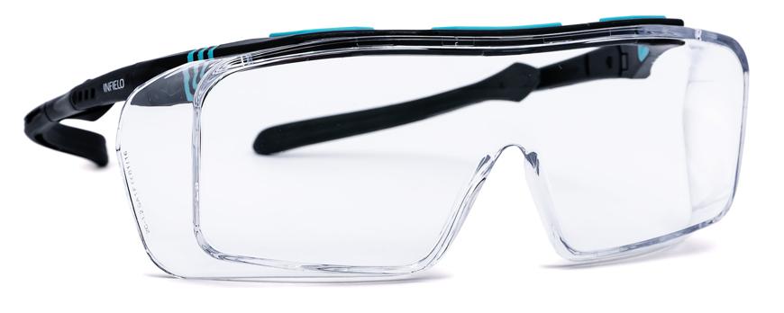 Picture of Schutzbrille ONTOR, schwarz/türkis/kristall, 1 Stück