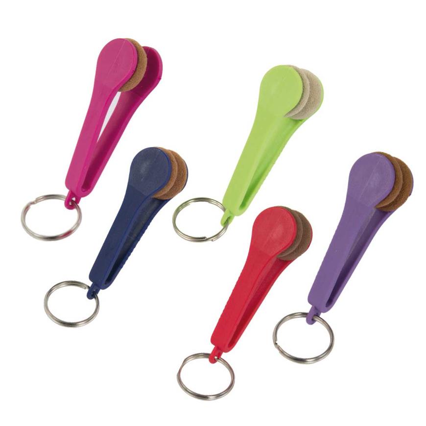 Picture of VISIOCLEAN® - Brillenreinigungspad mit Schlüsselanhänger, farbsortiert, 5 Stück