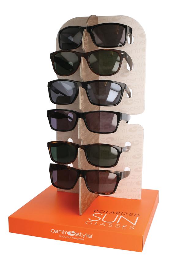 Picture of Display für Sonnenbrillen, aus hochwertigem Karton, 24 x 24 x 38 cm, 1 Stück