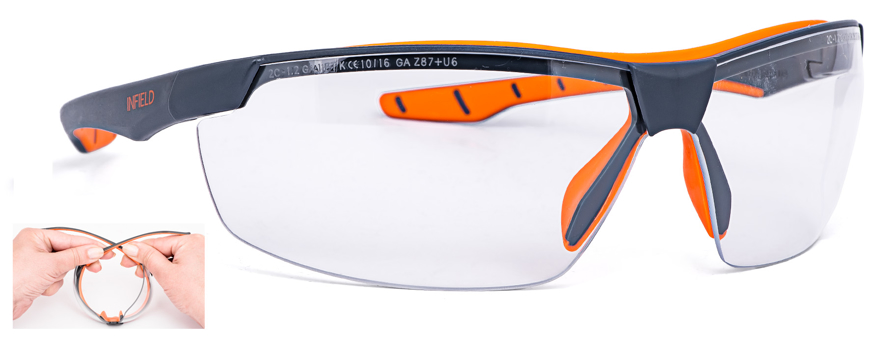 Picture of Schutzbrille FLEXOR PLUS, dunkelgrau/orange, 1 Stück