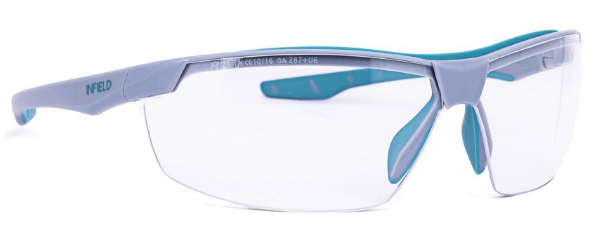 Picture of Schutzbrille FLEXOR PLUS, grau/türkis, 1 Stück