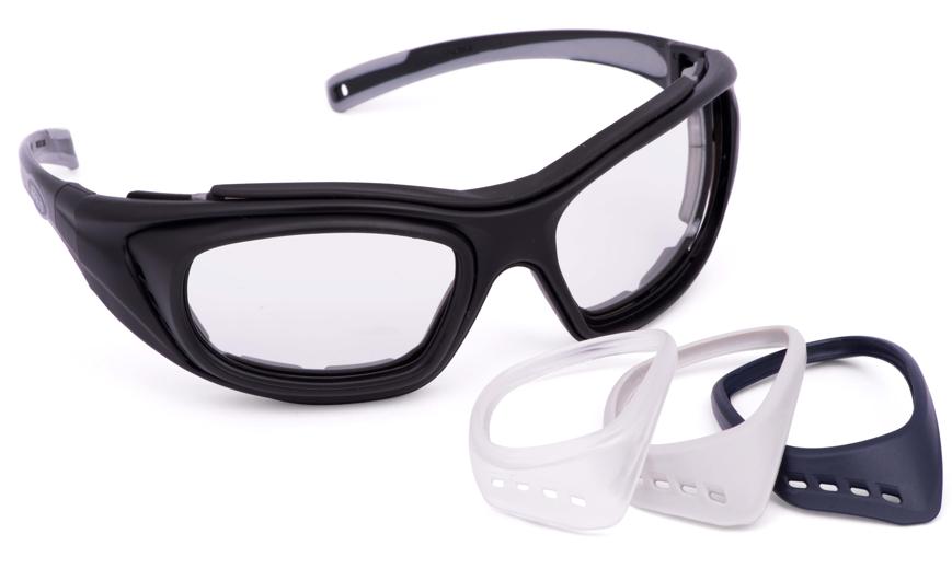 Picture of RX Verglasungs-Adapter, schwarz, für Schutzbrille COMBOR, 1 Paar
