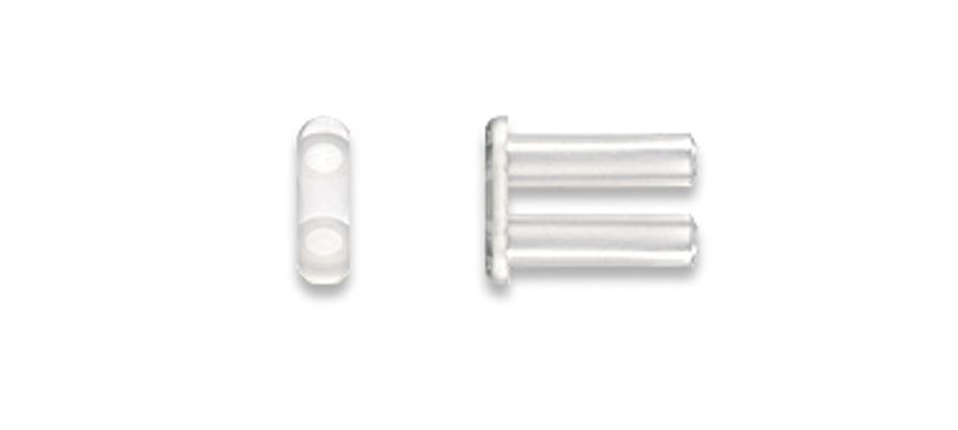 Picture of Doppelbohrhülsen, soft, Länge 7,20 mm, Außen-Ø 1,80 mm, transparent, 20 Stück