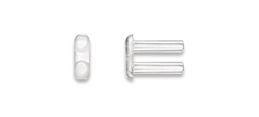 Picture of Doppelbohrhülsen, halbhart,Länge 7,80 mm, Außen-Ø 1,60 mm, transparent, 20 Stück