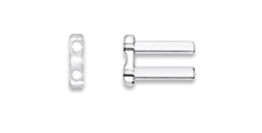 Picture of Doppelbohrhülsen, hart, Länge 7,80 mm, Außen-Ø 1,45 mm, transparent, 20 Stück