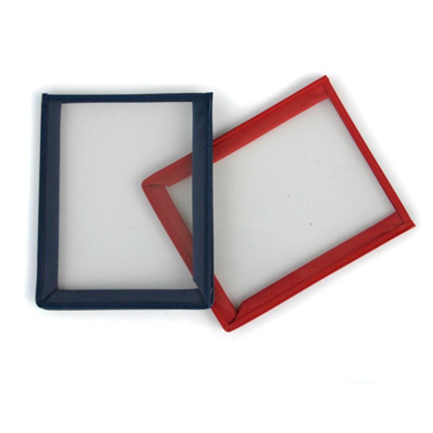 Picture of Arbeitstaschen für Karteikarten, rot, 18 x 14,5 cm, Faltenbreite: ca. 2,8 cm