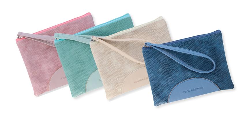 Picture of Mini-Taschen, 180 x 130 mm,mit Schlaufe und Reißverschluss, 4 Stück farbsortiert