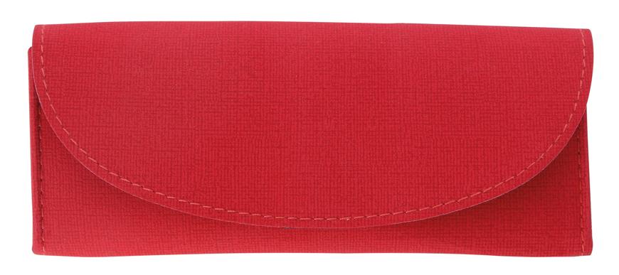 Picture of Softetuis aus Lederimitat, rot, horizontal 160 x 65 x 25 mm, 12 Stück