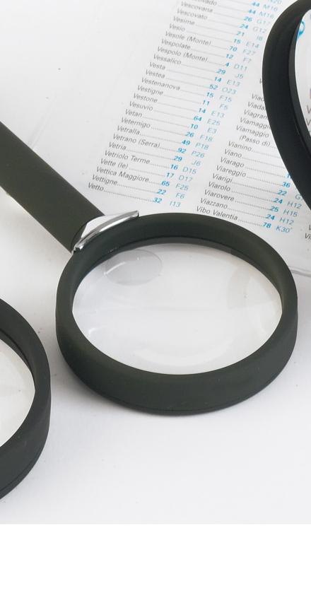 Picture of Lupe, Bifocal, mit schwarzem Soft-Touch-Griff,  6D- 2,5x & 5x, Ø 50 mm, 1 Stück