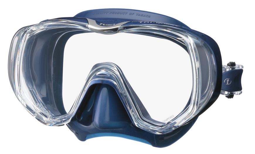 Picture of Einglas-Tauchmaske M-3001, blaues Silikon, 1 Stück