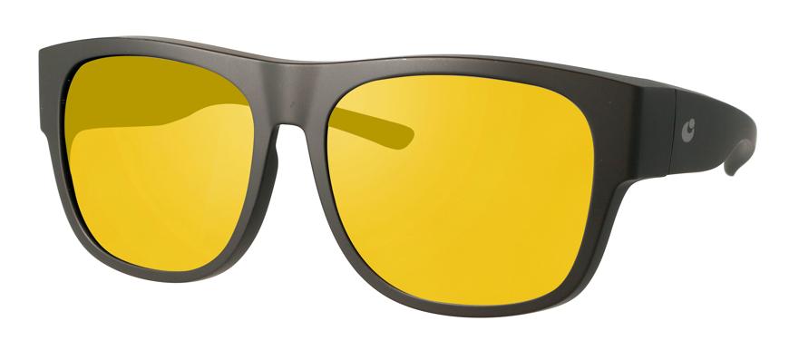 Picture of Überziehbrille schwarz matt, Grilamid, gelbe pol. Gläser, große Form, Gr. 57-16