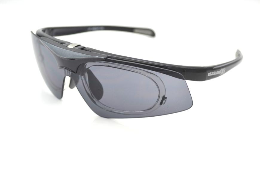 Picture of Insight One - Die Triple xXx Sportbrille mit Korrektionsadapter, schwarz/gau