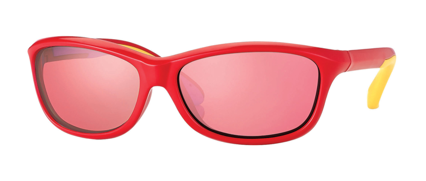 Picture of Kinder-Sonnenbrille, Gr. 52-13, rot/gelb, Polycarbonatgläser verpiegelt
