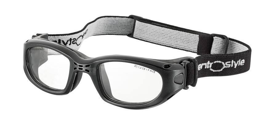 Picture of Sportschutzbrille mit verstellb. Kopfband, Gr. 55-23, schwarz,schulsporttauglich