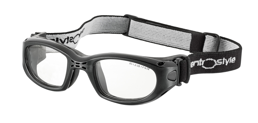 Picture of Sportschutzbrille mit verstellb. Kopfband, Gr. 53-23, schwarz,schulsporttauglich