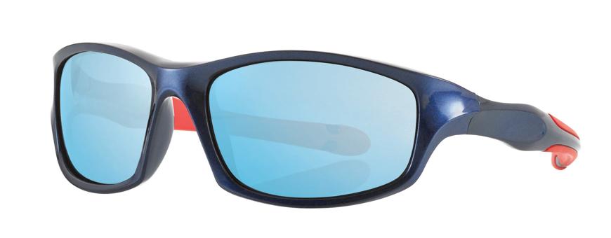 Picture of Kinder-Sonnenbrille, 7-10 Jahre, blau/rot, verspiegelte Gläser, 1 Stück