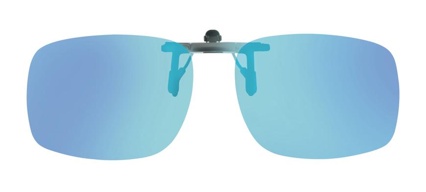 Bild von Vorhänger hochklappbar, minimierte Klammer, polarisierend, blau verspiegelt