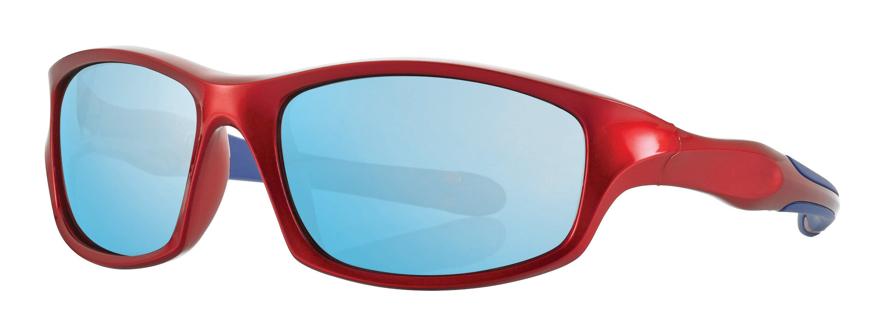 Picture of Kinder-Sonnenbrille, 7-10 Jahre, rot/blau, Gr. 54-16, Polycarbonatgläser versp.