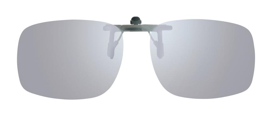 Picture of Vorhänger hochklappbar, minimierte Klammer, polarisierend, silber verspiegelt