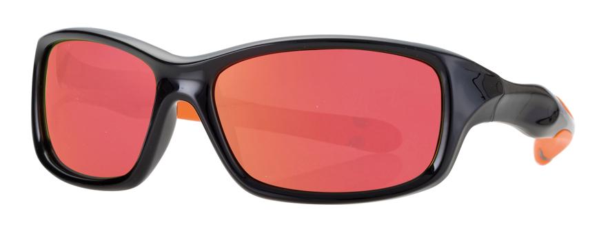 Picture of Kinder-Sonnenbrille, schwarz/orange, Gr. 50-15, Polycarbonatgläser verspiegelt