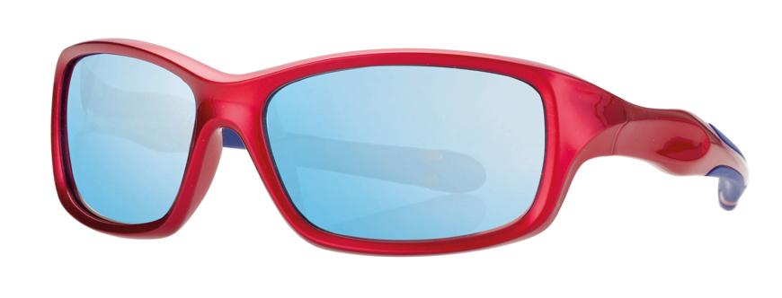 Picture of Kinder-Sonnenbrille, rot/blau, Gr. 50-13, Polycarbonatgläser verspiegelt