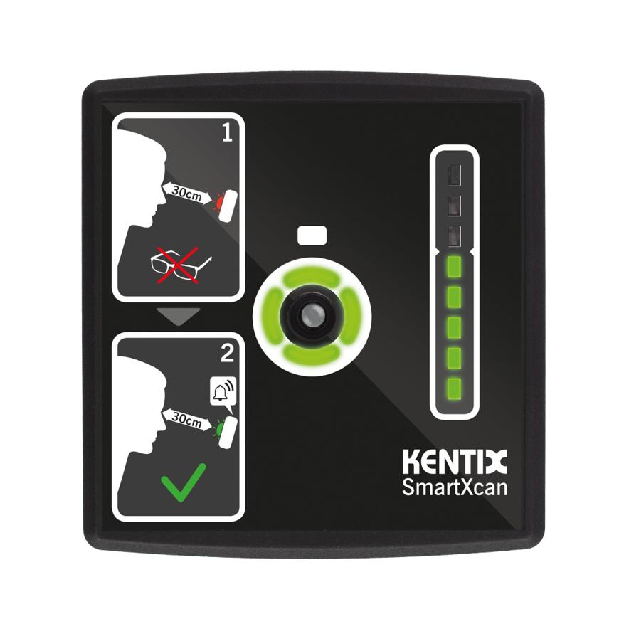 Picture of SmartXcan MultiSensor zur Körpertemperaturmessung mit LAN (PoE), schwarz