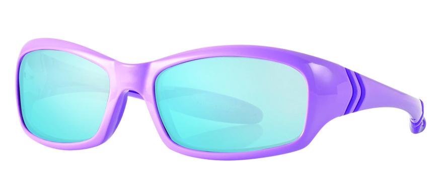 Picture of Mädchen-Sonnenbrille, 4-5 Jahre, Gr. 47-15, hell-/dunkelviolett, 1 Stück