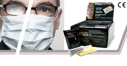 Picture of PROGEAR Anti-fog Gel (PFAS-frei*), 5g Tube mit Tuch und Etui im 24er Set,