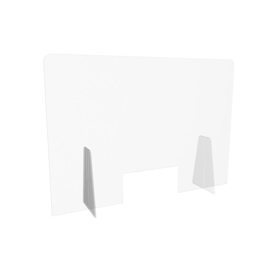 Picture of Schutzaufsteller mit Schlitz zum Bezahlen, aus Plexiglas transparent, 1 Stück