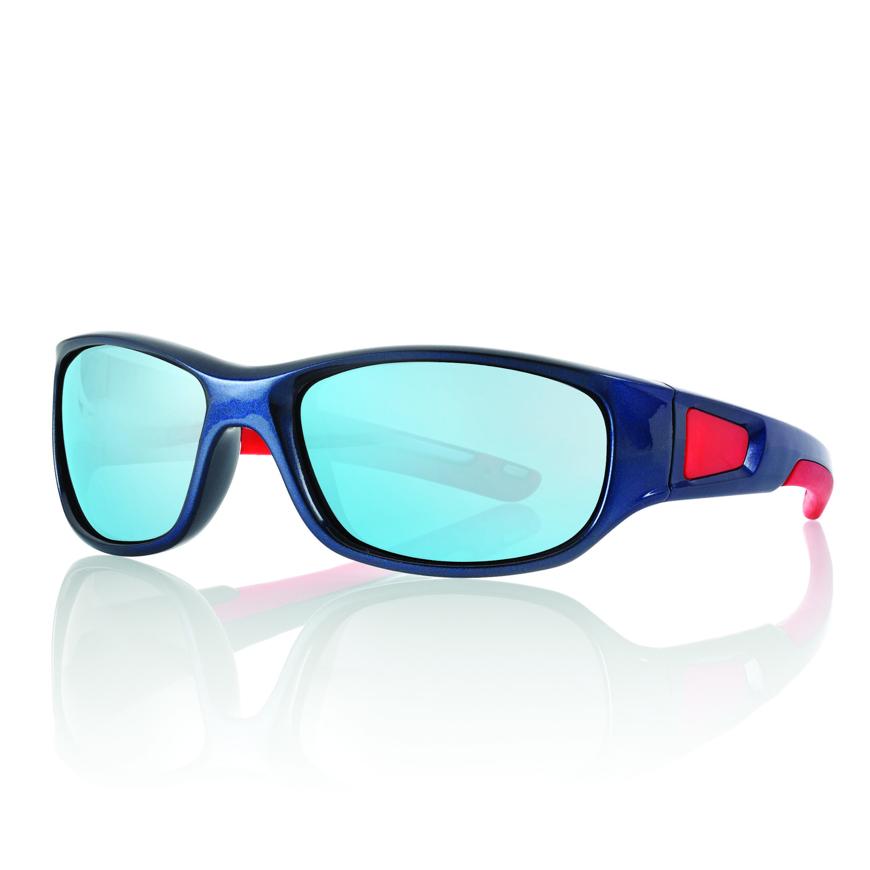 Picture of Kinder-Sonnenbrille, 5-7 Jahre, blau/rot, Gr.53-15, verspiegelte Gläser, 1 Stück