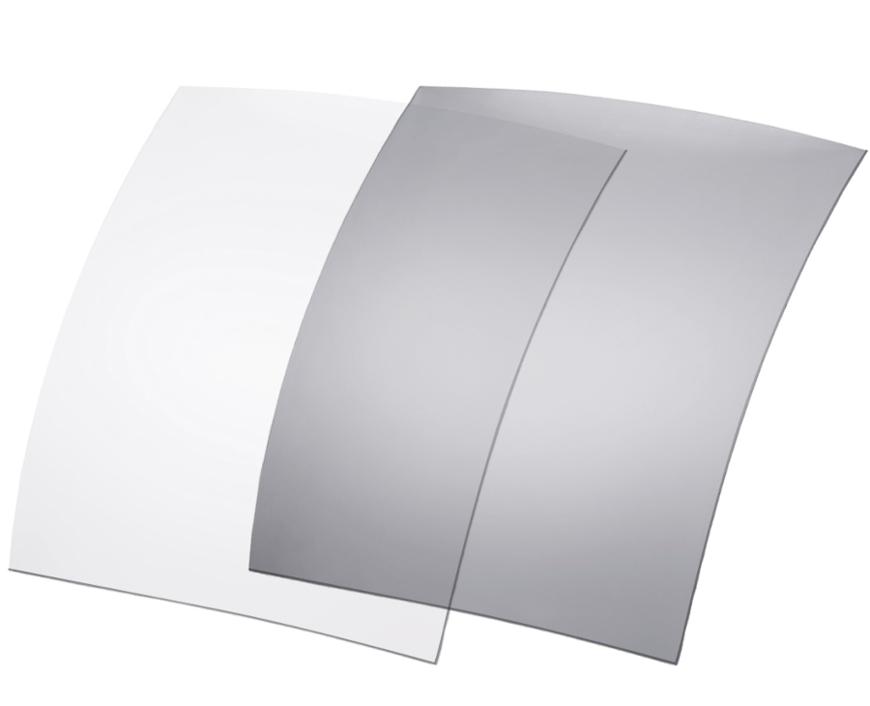 Picture of Polarisationsfolien, photochrom., 70x60 mm, hellgrau/grau, 20-85 %, 6 Stück