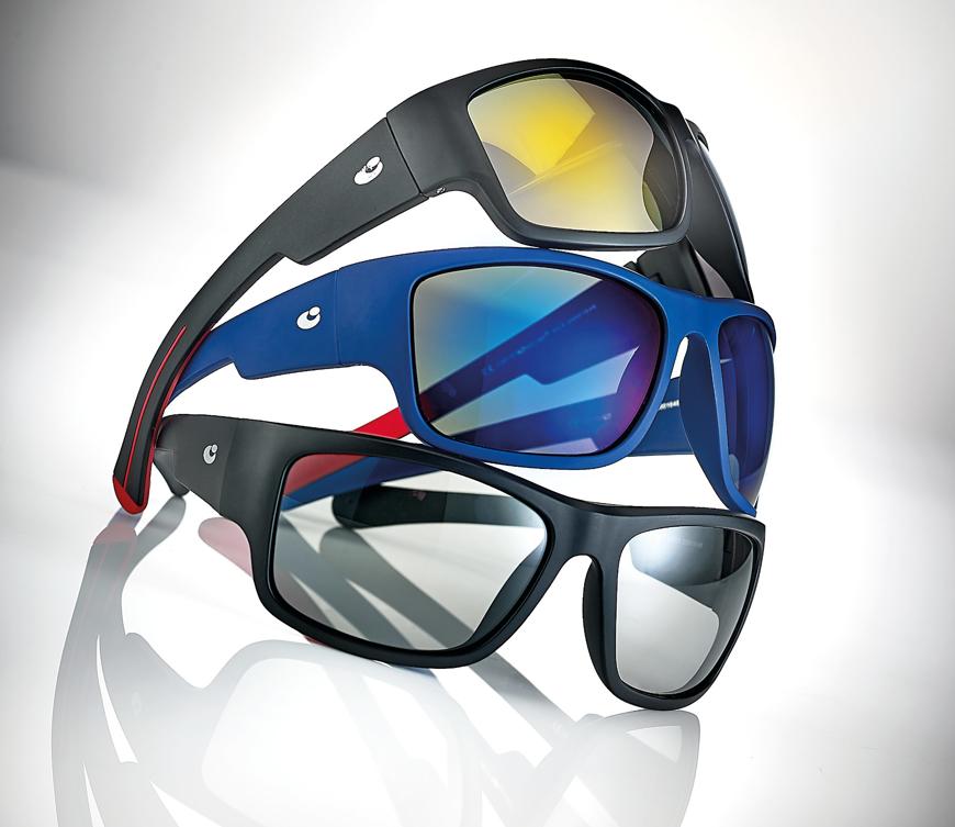 Picture of Sportive Herren-Sonnenbrille, Gr. 63-18, in 3 Farben