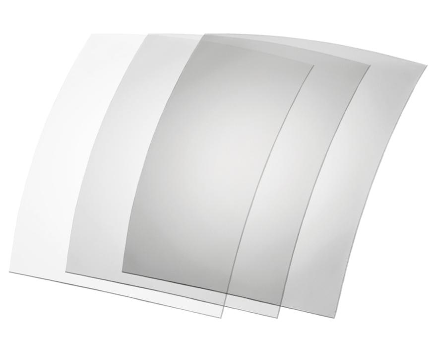 Picture of Photochromatische Folien, 70x60 mm, transp./grau, 5-65 %, 6 Stück