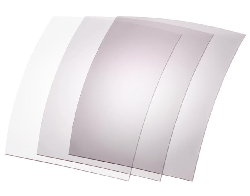Picture of Photochromatische Folien, 70x60 mm, transp./pink, 5-35 %, 6 Stück