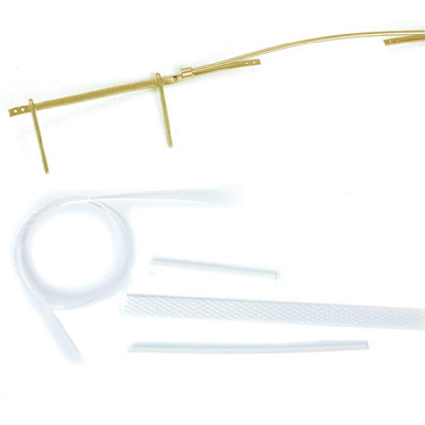 Picture of BriClip-Vorhänger-Bausatz, Gr. 80, Garniturfarbe gold, 1 Stück