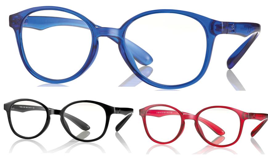 Bild von Kunststoff-Brille mit Blaulichtfiltergläser, für Kinder, Gr. 46-17, in 3 Farben