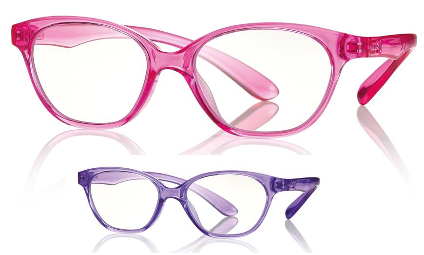 Bild von Kunststoff-Brille mit Blaulichtfiltergläser, für Kinder, Gr. 46-15, in 2 Farben