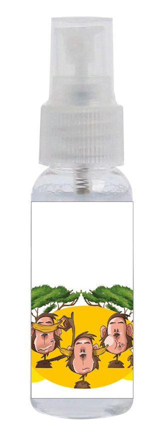 """Picture of Sprayclean 25, """"Cartoon Affen"""", geruchsneutral, 48 Sprühflaschen à 30 ml"""