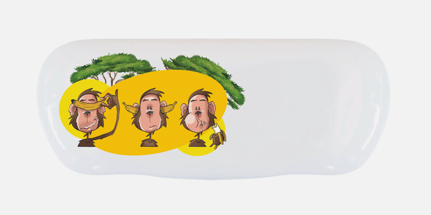 "Picture of Alu-Etuis, ""Cartoon Affen"", 162 x 66 x 40 mm, 10 Stück"