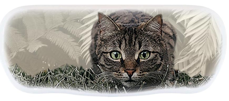 "Picture of Alu-Etuis, ""Katze"", 162 x 66 x 40 mm, 10 Stück"