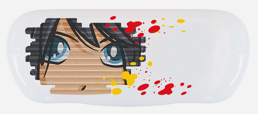 """Picture of Alu-Etuis, """"Animation Junge"""", 162 x 66 x 40 mm, 10 Stück"""